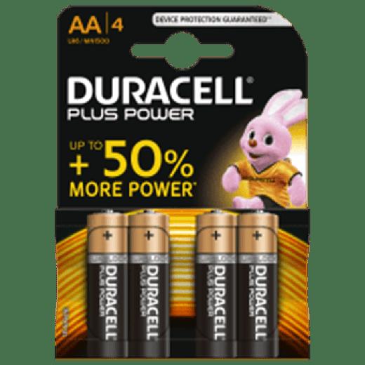 01626 - 20pc. per box - Duracell Plus Power Alkaline AA/MN1500 4x Blister