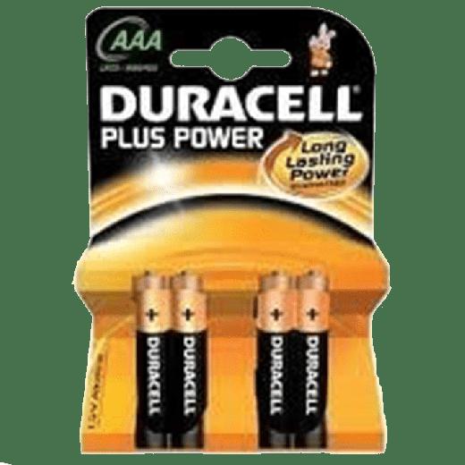 01627 - 10pc. per box - Duracell Plus Power Alkaline AAA/MN2400 4x Blister