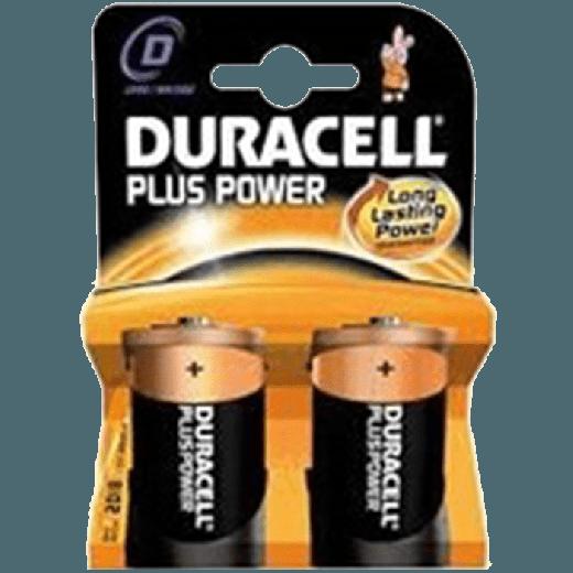 01629 - 10pc. per box - Duracell Plus Power Alkaline D/MN1300 2x Blister