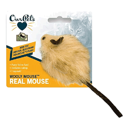 0ACT10534 - 6pc. per unit - Play N Squeak Wooly Mouse