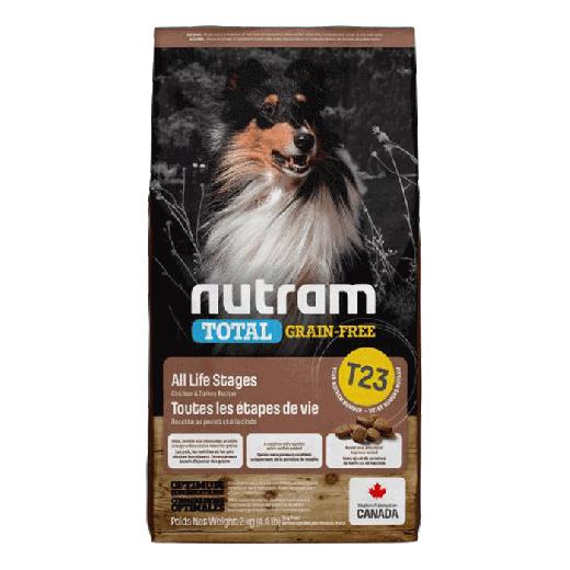 18530 – T23 Nutram Total Grain-Free Turkey, Chicken Natural Dog Food 6x2KG