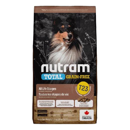 18531 – T23 Nutram Total Grain-Free Turkey, Chicken & Duck Dog Food 11,4KG