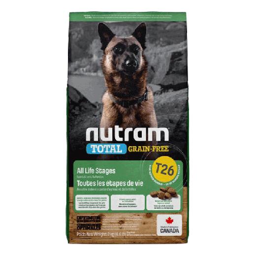 18536 - T26 - Nutram Total Grain-Free Lamb & Legumes Dog Food 6×2KG