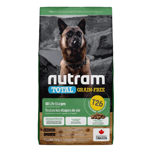 18537 - T26 Nutram Total Grain-Free Lamb & Legumes Dog Food 11,34KG