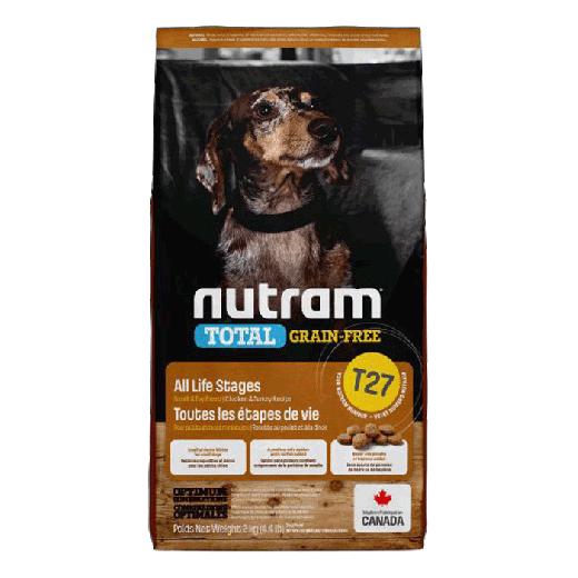 18540 - T27 Nutram Total Grain-Free Small Breed Turkey Chicken Natural Dog Food 6×2KG
