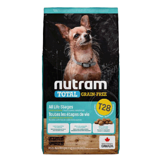 18543 – T28 Nutram Total Grain-Free Small Breed Salmon & Trout Dog Food 6×2KG