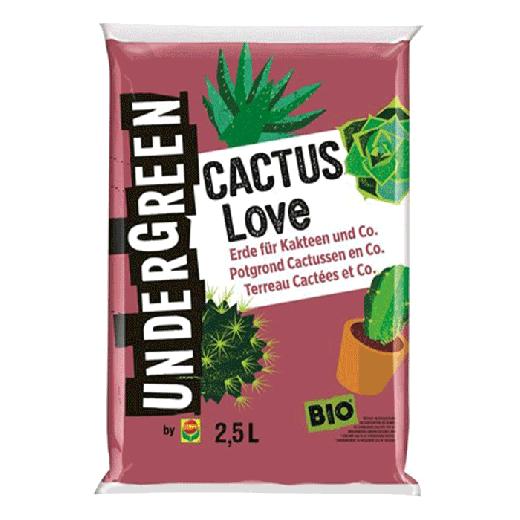 2830702004 - 10 per pallet - UNDERGREEN Cactus Love Bio Potting Ground Cactuses & Fat Plants 2.5L
