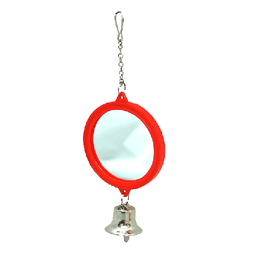 FY003 - 6pc. per unit - Beaks Small Double Sided Mirror and Bell on Chain